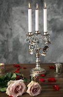 Vintage Candelabra CANDLE HOLDER Centerpiece Crystal Candleholder Glass Votive