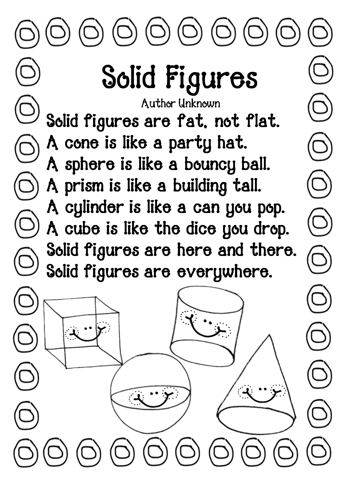 First Grade Wow What And How Animals Eat A Free Geometry Solid Shapes2d