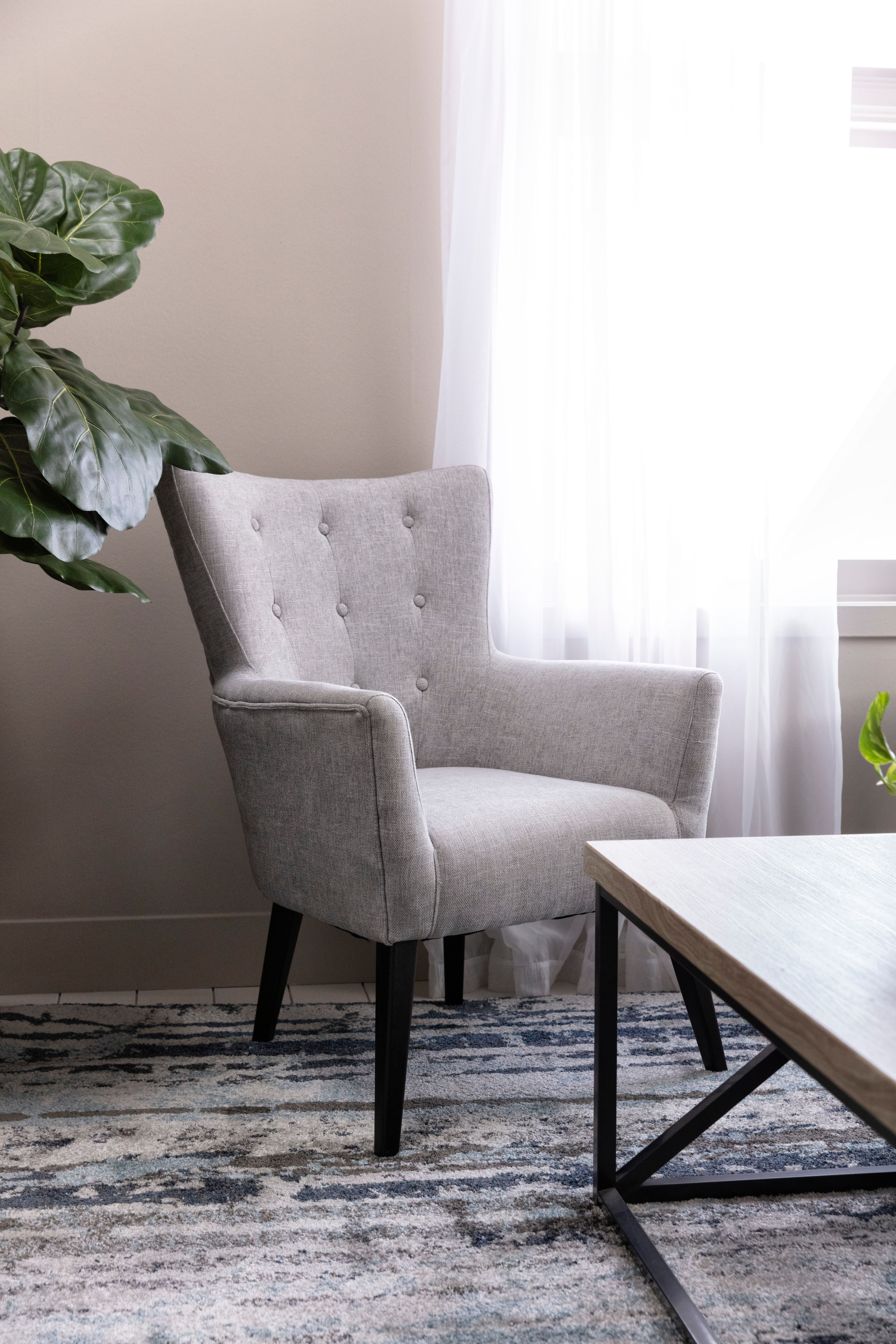 Kelsey Light Grey Accent Chair Accent Chairs Light Grey Accent