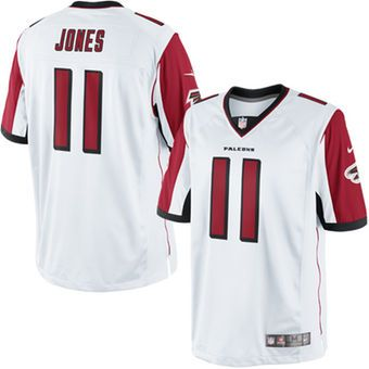 new arrival 3bd6b 68383 Men's Atlanta Falcons Julio Jones Nike White Limited Jersey ...