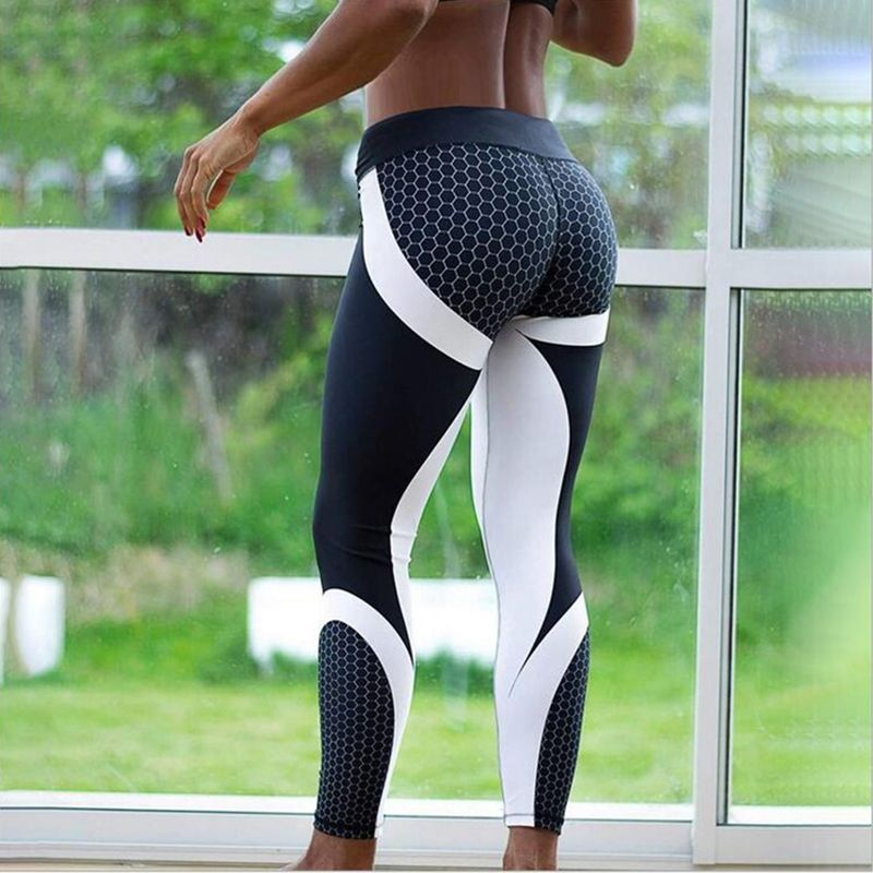 Details about  /Sport Fitness Geometric Printed Sports Pants Yoga Pants Leggings  Tights