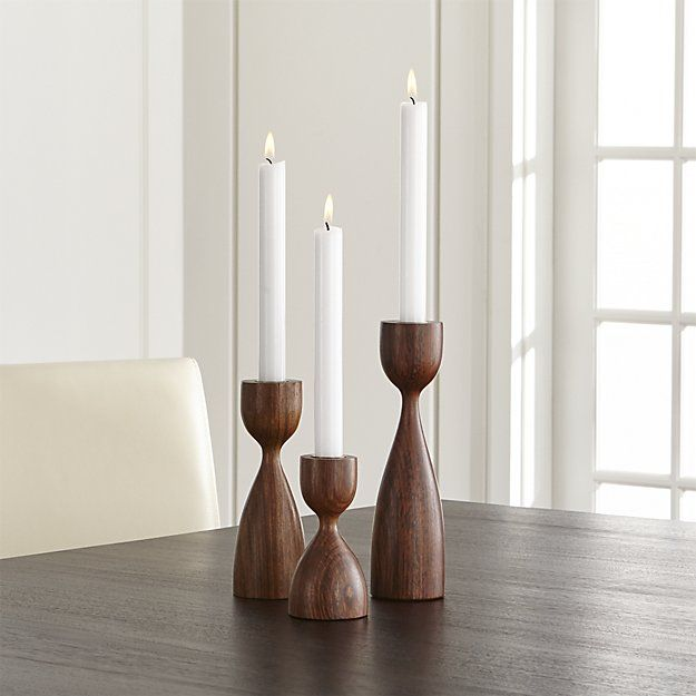 Merritt Solid Wood Taper Candle Holder Candle Holders Taper Candle Holders Contemporary Candles