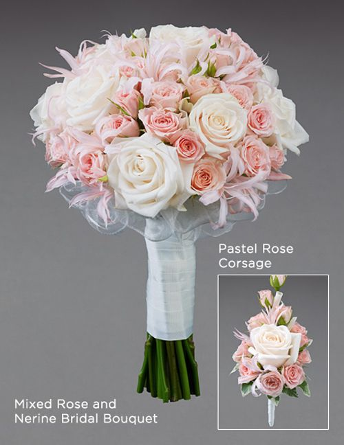 Designer Wedding Bouquet Created Using Pink And Cream Flowers By Vera Wang At Interflora