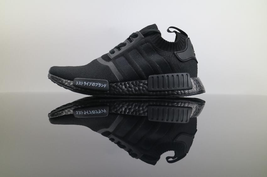 cacef25934017 Adidas NMD R1 PK All Black BZ0220 Japanese Real Boost 1 Adidas Nmd R1