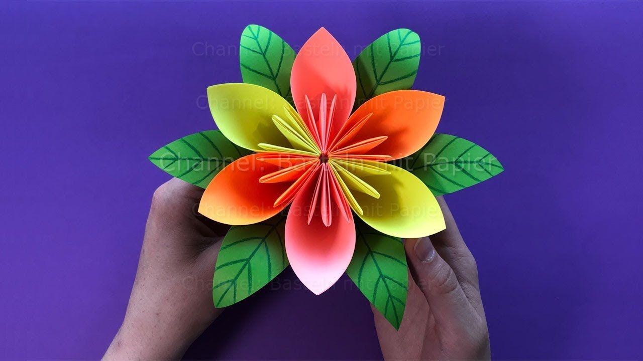 Fleur En Papier Faire Une Fleur Bricolage Facile Paper Flowers Diy Paper Flower Tutorial Paper Flowers