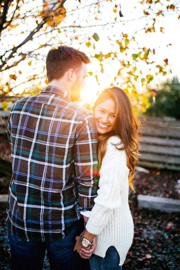 Cable knit sweater winter outfit cozy couple photo ideas plaid shirt winter