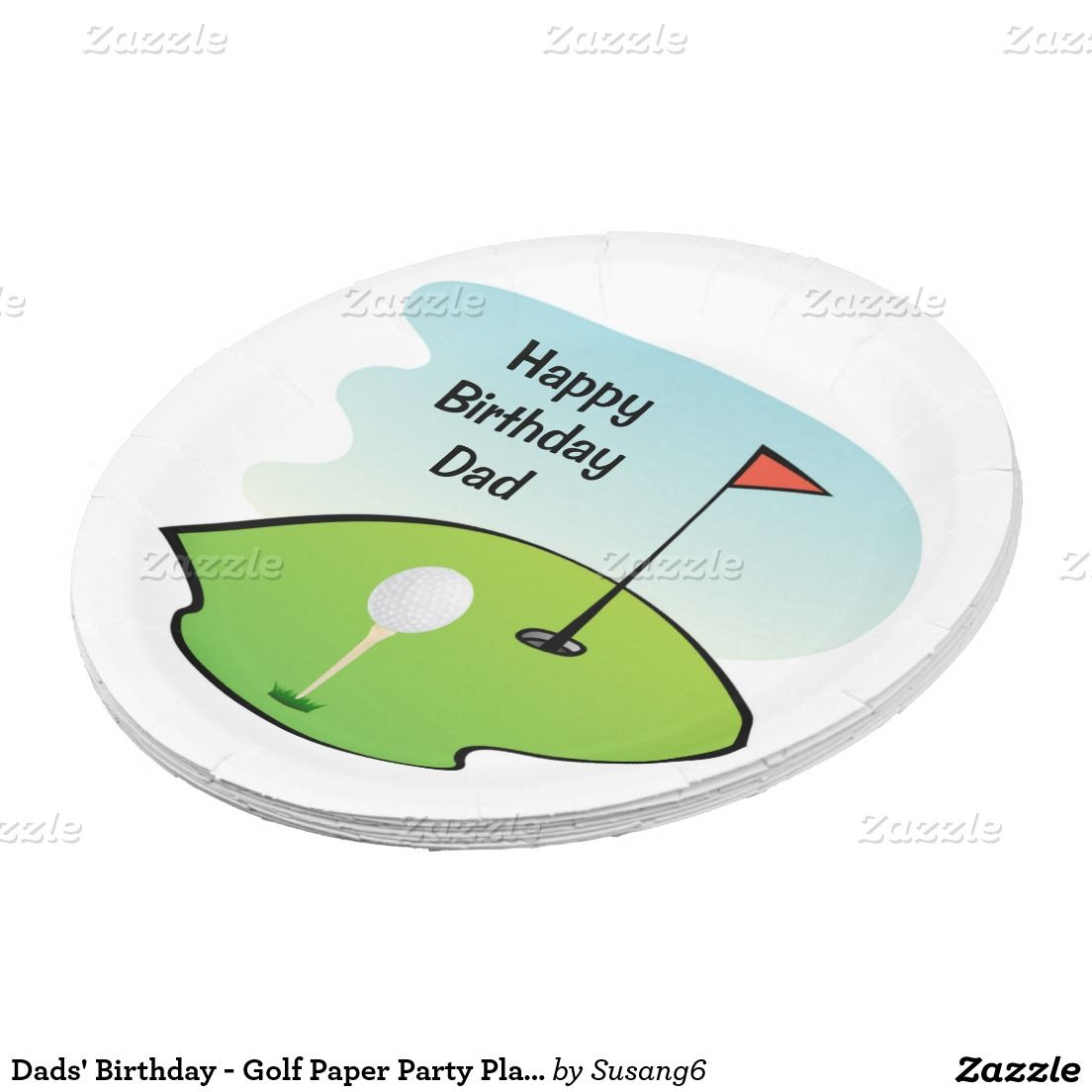 Dadsu0027 Birthday - Golf Paper Party Plates  sc 1 st  Pinterest & Dadsu0027 Birthday - Golf Paper Party Plates | Golf and Dads
