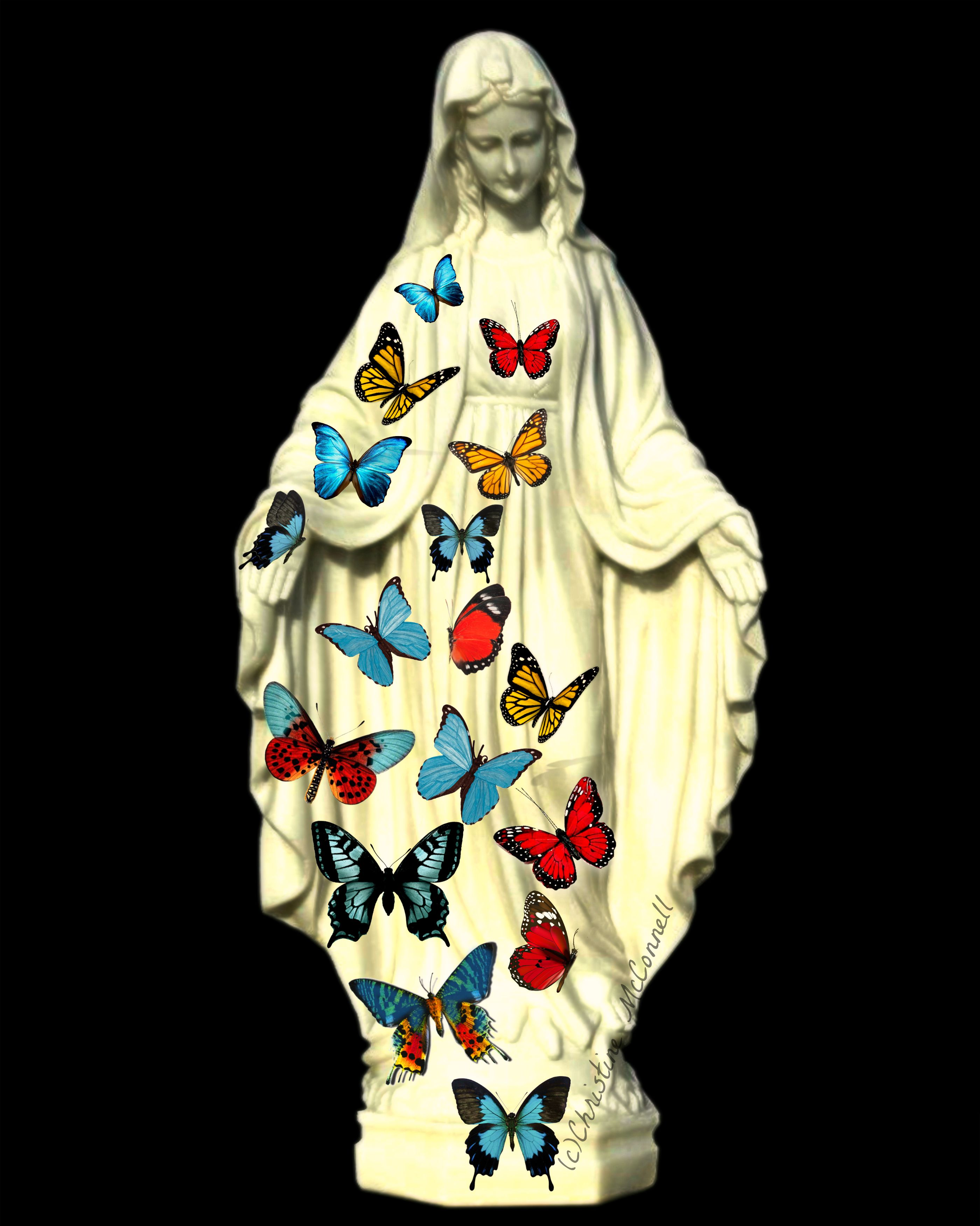 Our Lady / Virgin Mary with butterflies from www.artdecadence.etsy ...