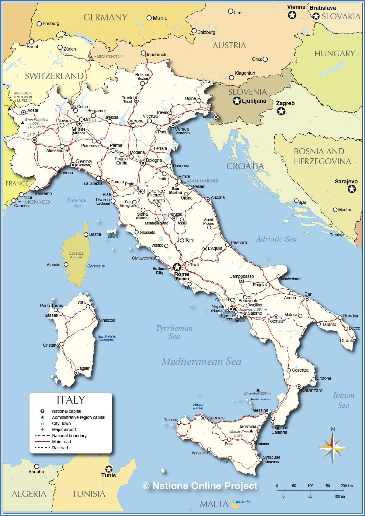 Detailed Map of Italy Italy on My Mind Pinterest Italy
