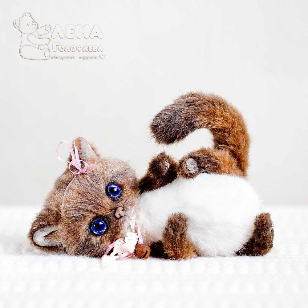 Ooak Artist Teddy Kitten Daisy 6 3 By Elena Golofaeva Hondjes Naaldvilten Katten