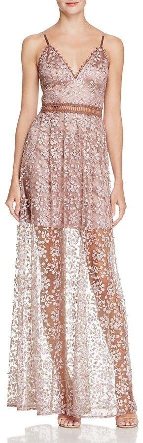 4b6b78f6145a Aqua Embellished Embroidered Maxi Dress - 100% Exclusive