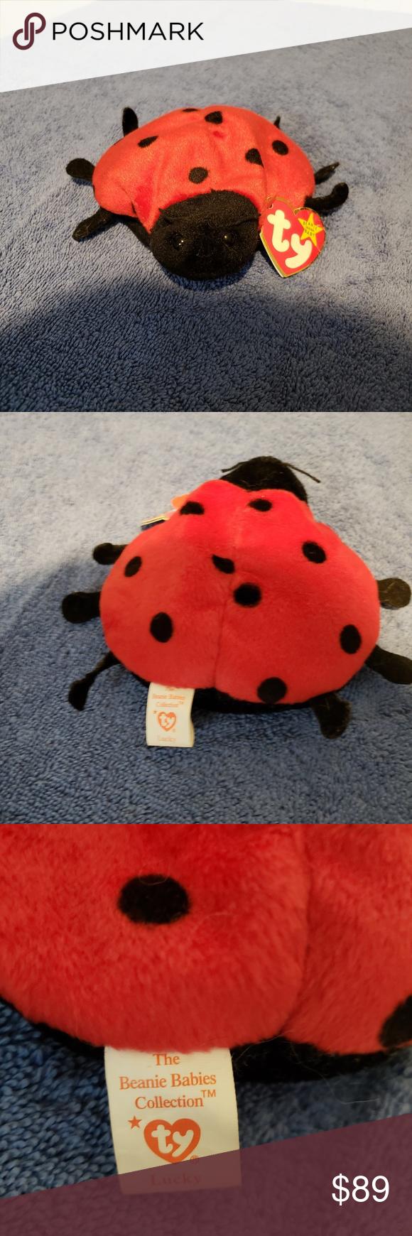 Ty Beanie Babies Lucky 1995 Ladybug Style 4040 12 Ty