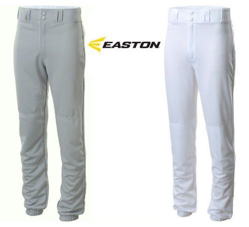 Easton Youth Pro Sheen Style Baseball Pants Traditional Fit Grey Or White Gray Youth Large Belt Loops Retail 29 99 Medium 22 Baseball Pants Pants Style
