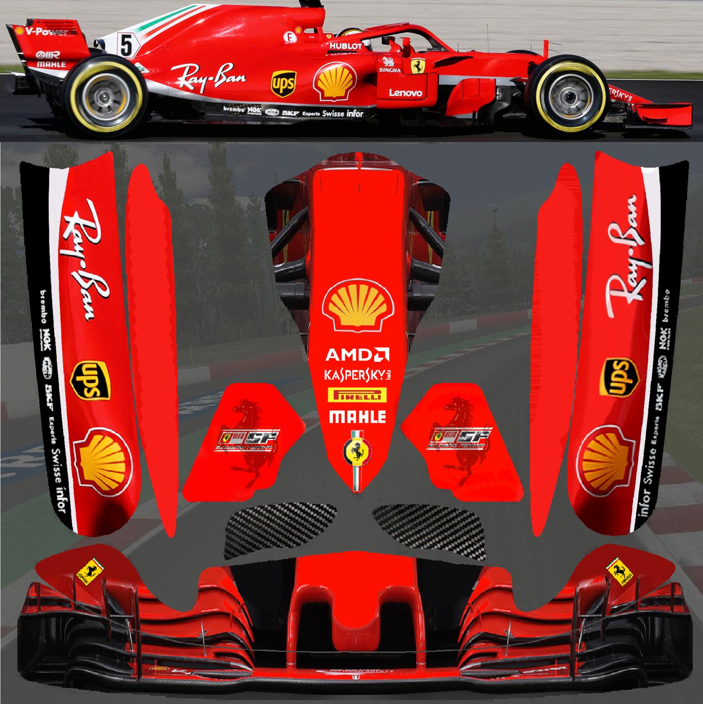 New 2018 F1 Ferrari Sticker Kit For Tonykart Otk M4 Pods Nosecone Nassau Panel Go Kart Ferrari Brembo [ 1500 x 1497 Pixel ]