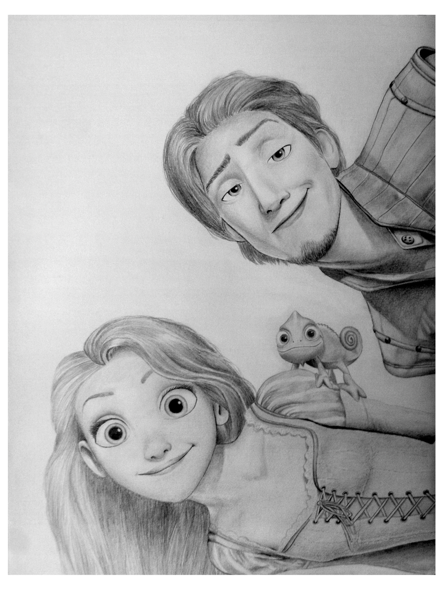 30  Beauty Tangled Rapunzel And Flynn for tangled rapunzel and flynn drawing  570bof