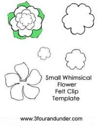 Whimsical Flower Felt Clip Template #feltflowertemplate Whimsical Flower Felt Clip Template #feltflowertemplate
