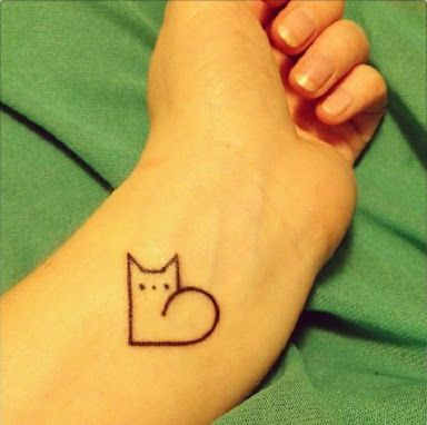 Image Result For Persian Cat Tattoo Cat Tattoo Designs Minimalist Cat Tattoo Minimalist Tattoo