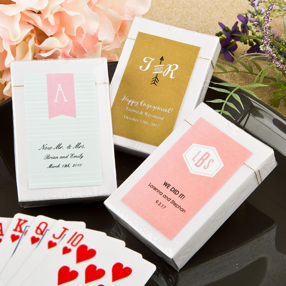 MONOGRAM PLAYING CARD FAVORS