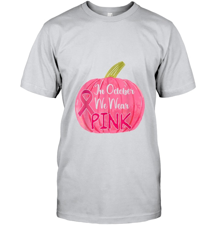 Breast Cancer Halloween In October We Wear Pink Pumpkin Breast Cancer #pinkpumpkins