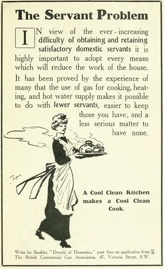 The Servant Problem The English Review May 1915 The War Greater Job Opportunities Provided By Indutria Vintage Advertisements Vintage Ads Retro Advertising