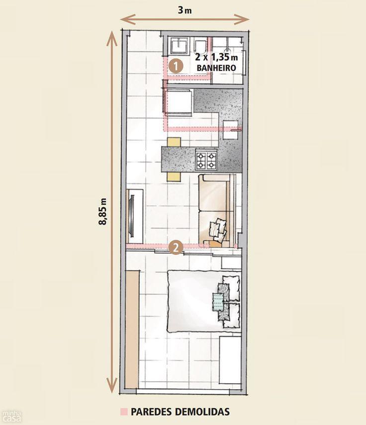 Planta de casa pequena meia agua pesquisa google casa for Casa pequena tipo minimalista
