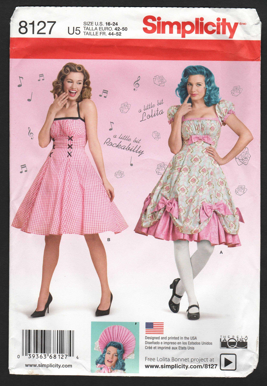 Plus Size Halter Dress Pattern Rockabilly Farmers Daughter Lolita ...