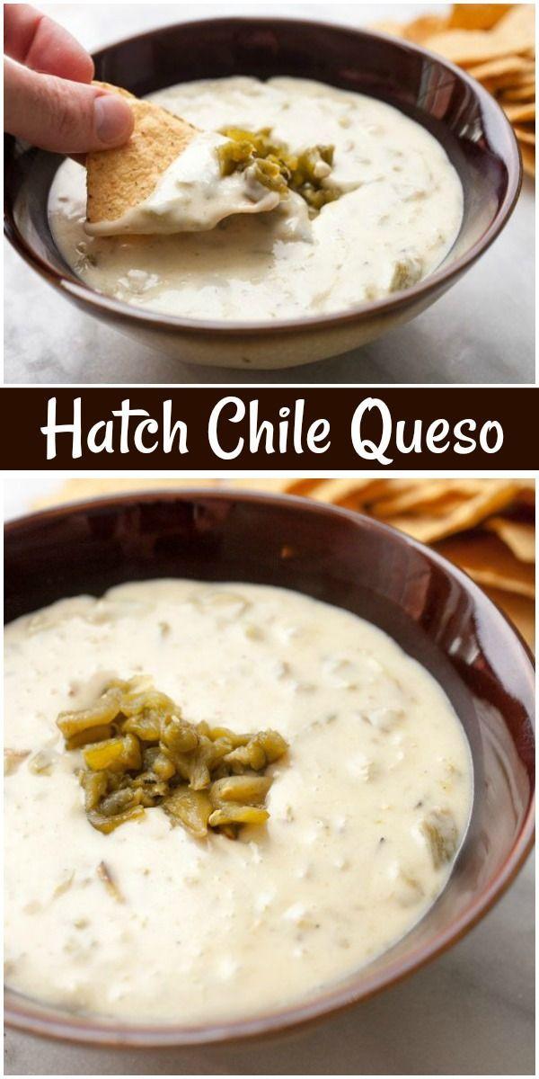 Chile Queso Hatch Chile Queso dip recipe from  via @recipegirlHatch Chile Queso dip recipe from  via @recipegirl