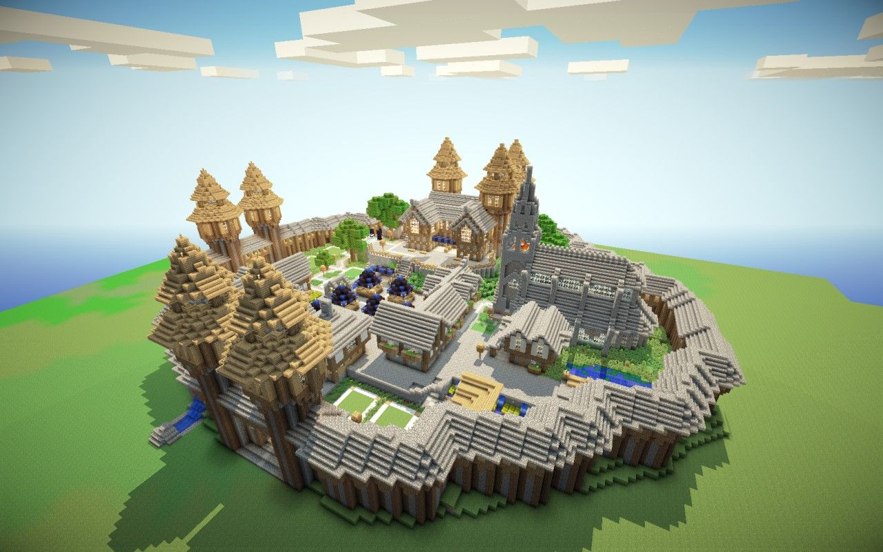 Medieval Spawn With Schematic Minecraft Project Médiéval