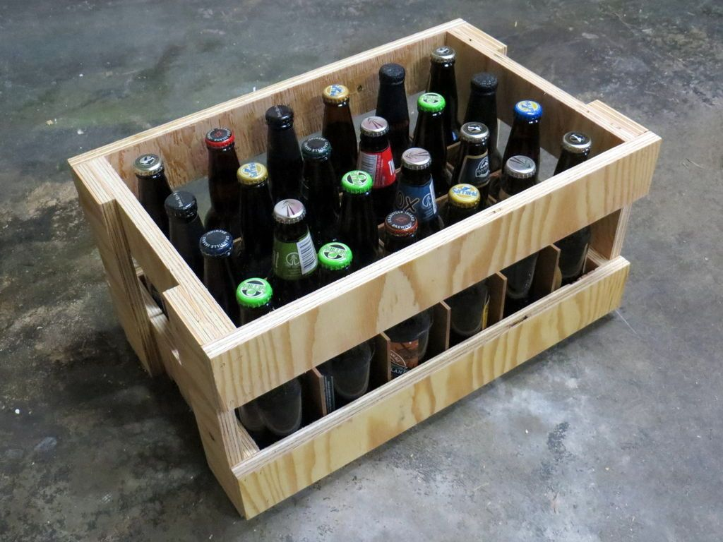 Plywood Beer Crate Crates Woodworking Woodworking Projects