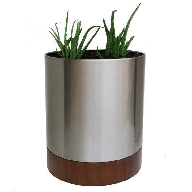Knox Stainless Steel Pot Planter Ashley Apartment Refresh