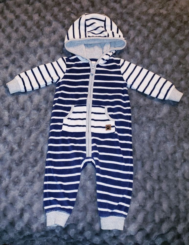1c80611f9a7c VGUC Carters Baby Boy Clothes 6 Months 1 Piece Long Sleeve Fleece Hooded  Romper #fashion #clothing #shoes #accessories #babytoddlerclothing ...