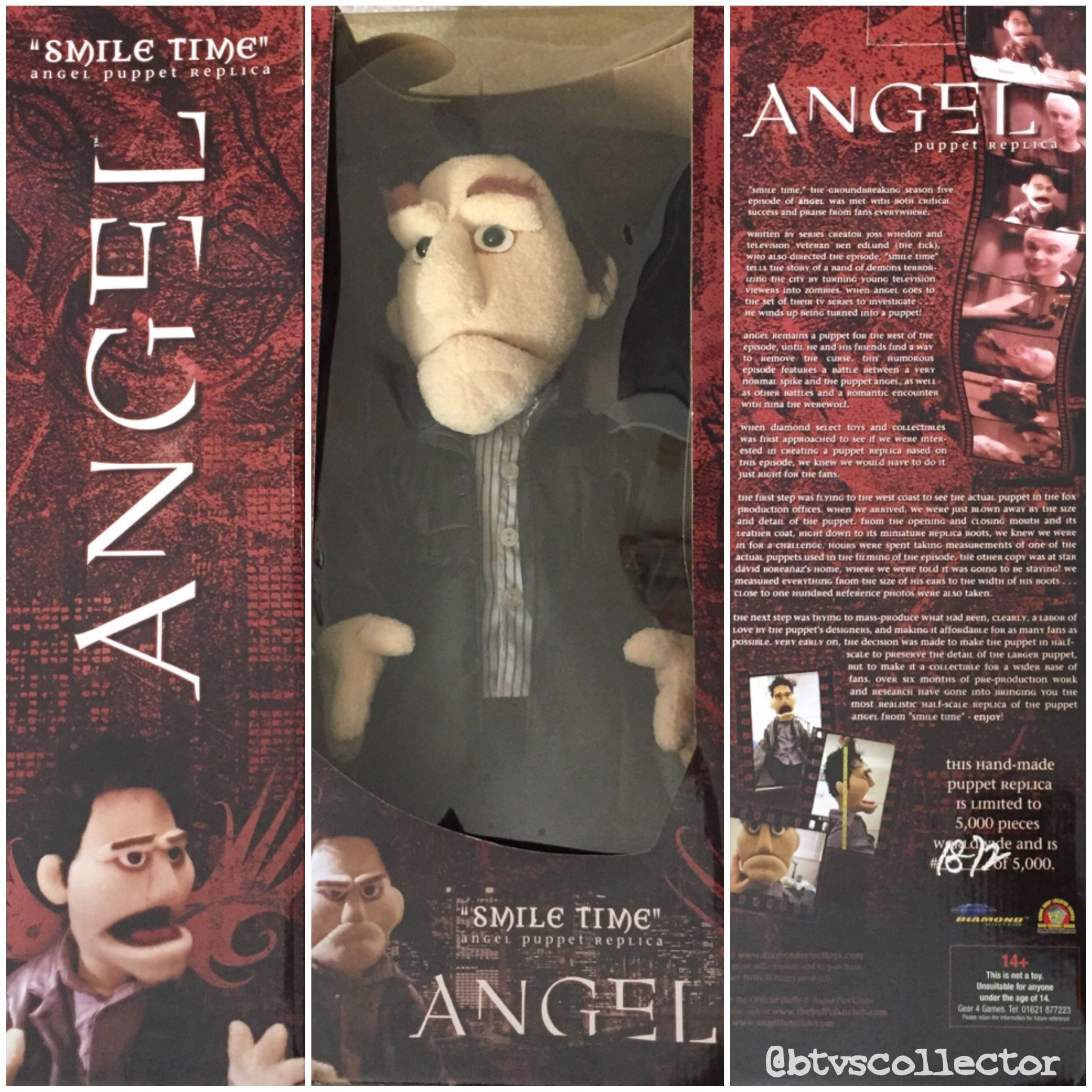"Diamond Select Toys - Angel ""Smile Time"" Puppet Prop Replica. 1872/5000. #btvscollector #btvs #buffy #buffythevampireslayer"