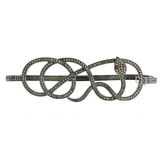 Diamond Snake Bracelet Jewelry Natural Pave Diamond Designer Palm