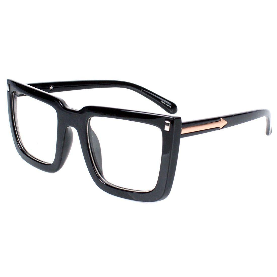 Encacc big square nerdy thick plastic frame clear lens eye glasses encacc big square nerdy thick plastic frame clear lens eye glasses for fashion no prescription frames jeuxipadfo Images
