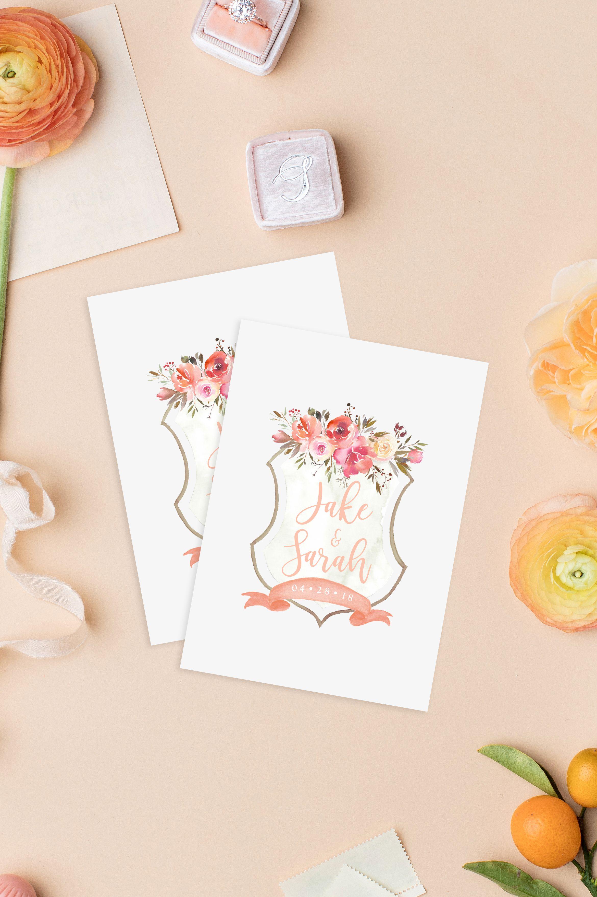 Whimsical paper goods u0026 invitation designs Peach