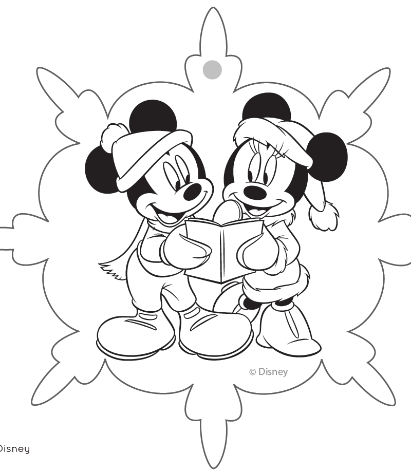 Disney Christmas Ornaments Coloring Pages