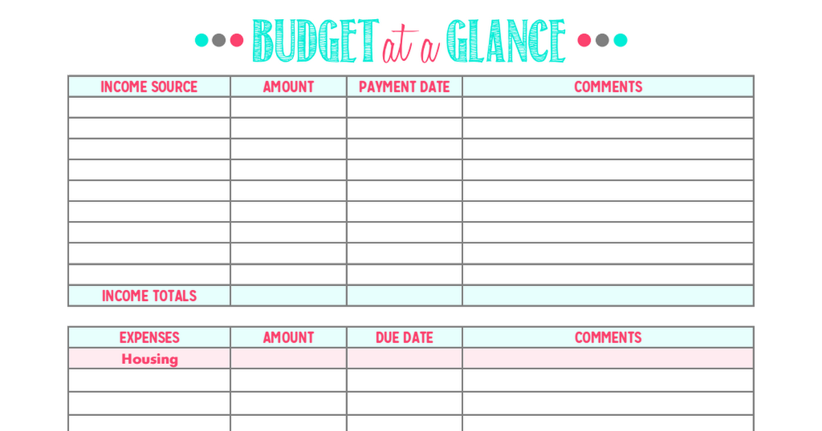 Family Binder Budgeting Printables Credit repair