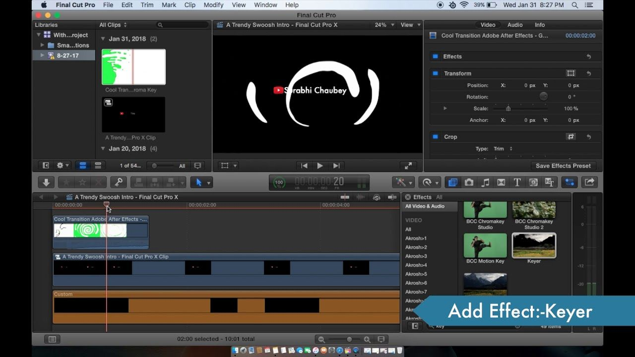How to make a trendy swoosh intro final cut pro video editing how to make a trendy swoosh intro final cut pro video editing by ccuart Gallery
