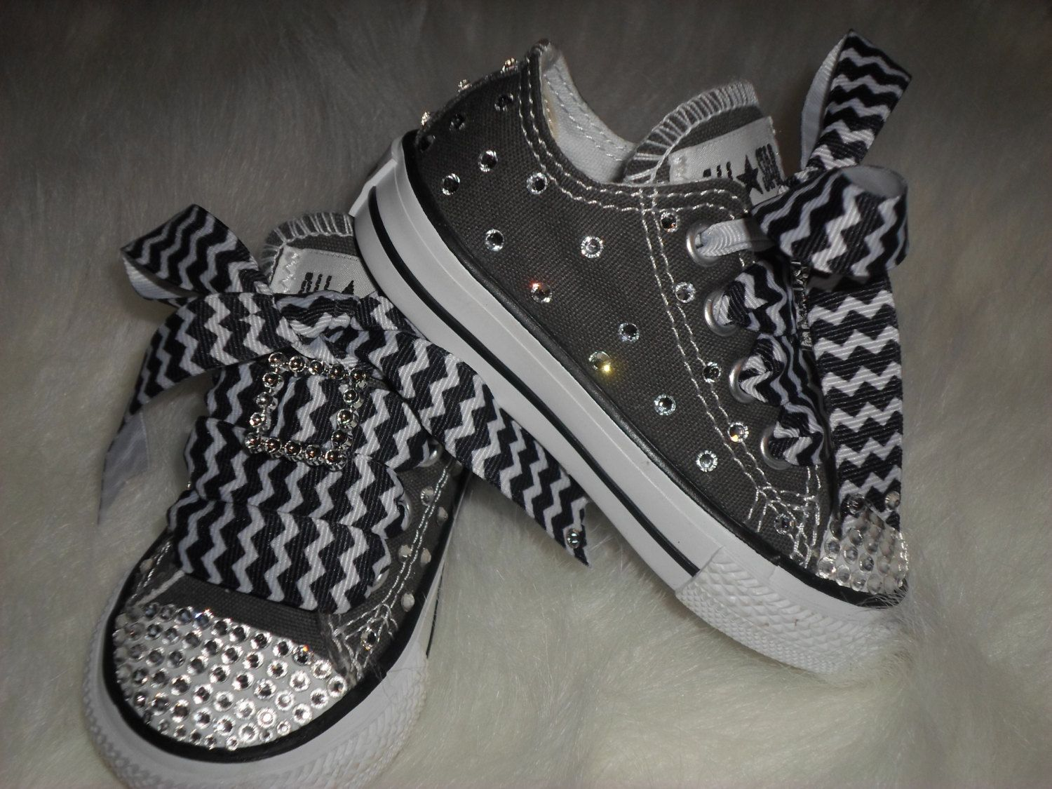 Chevron baby infant toddler Converse Chuck by