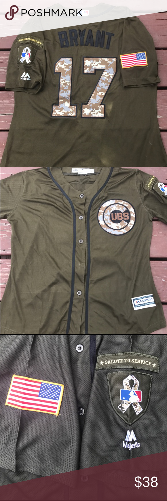 the best attitude 721b1 0a85f Women's Kris Bryant Cubs Military Camo Jersey XL Chicago ...