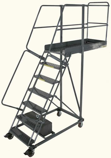 This Cantilever Rolling Ladder Is Manufactured By Ballymore Co Call For More Info 888 722 0311 Rolling Ladder Ladder Stairway Storage