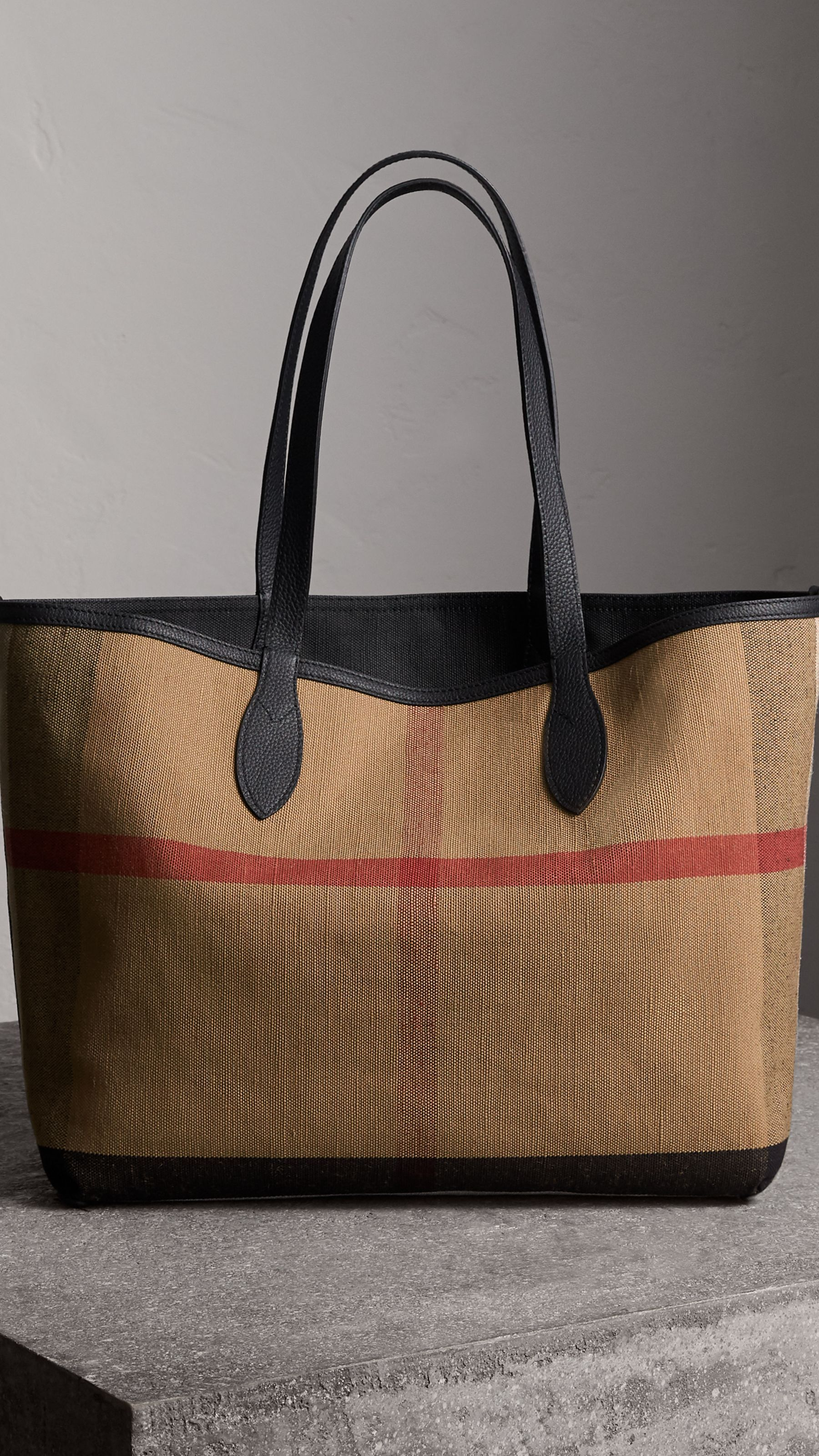 876ae863c4d The Medium Doodle Tote in Coated Canvas in Classic Check/black | Burberry  Canada