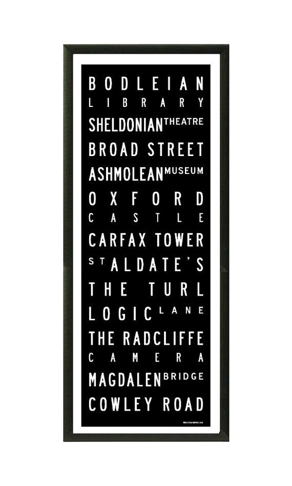 Oxford tram / bus scroll vintage style by destinationprintsuk, £29.95