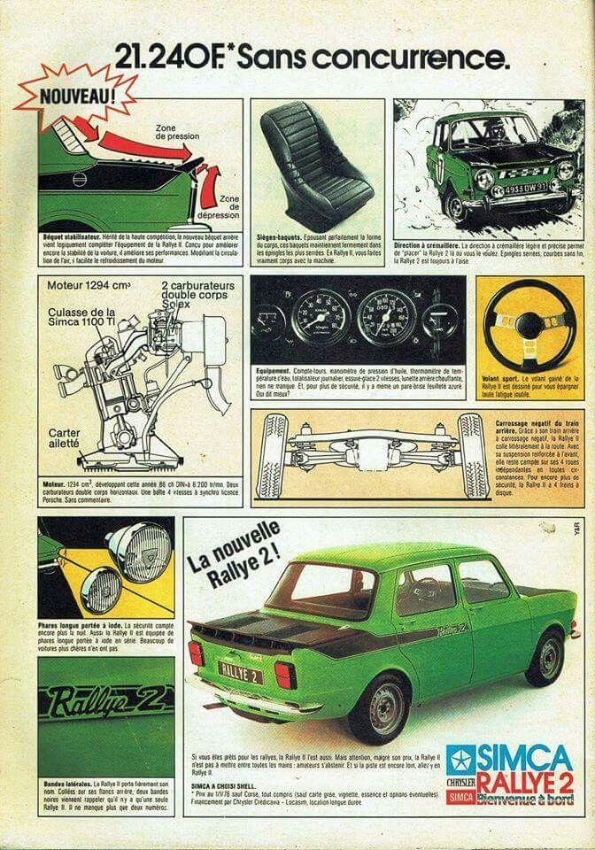 Simca 1000 Rallye 2 Simca Simca Rallye 2 Voiture Vintage