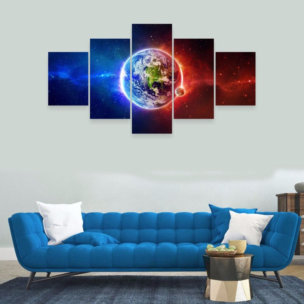 5 parts of modern art wall decoration star printed canvas painting 5 parts of modern art wall decoration star printed canvas painting frameless painting art is to amipublicfo Choice Image