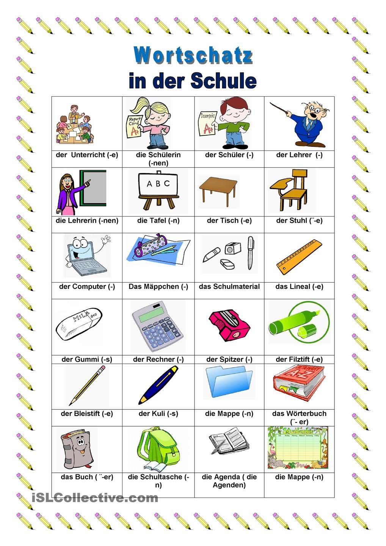 in der schule learn german german grammar german resources und german language learning. Black Bedroom Furniture Sets. Home Design Ideas