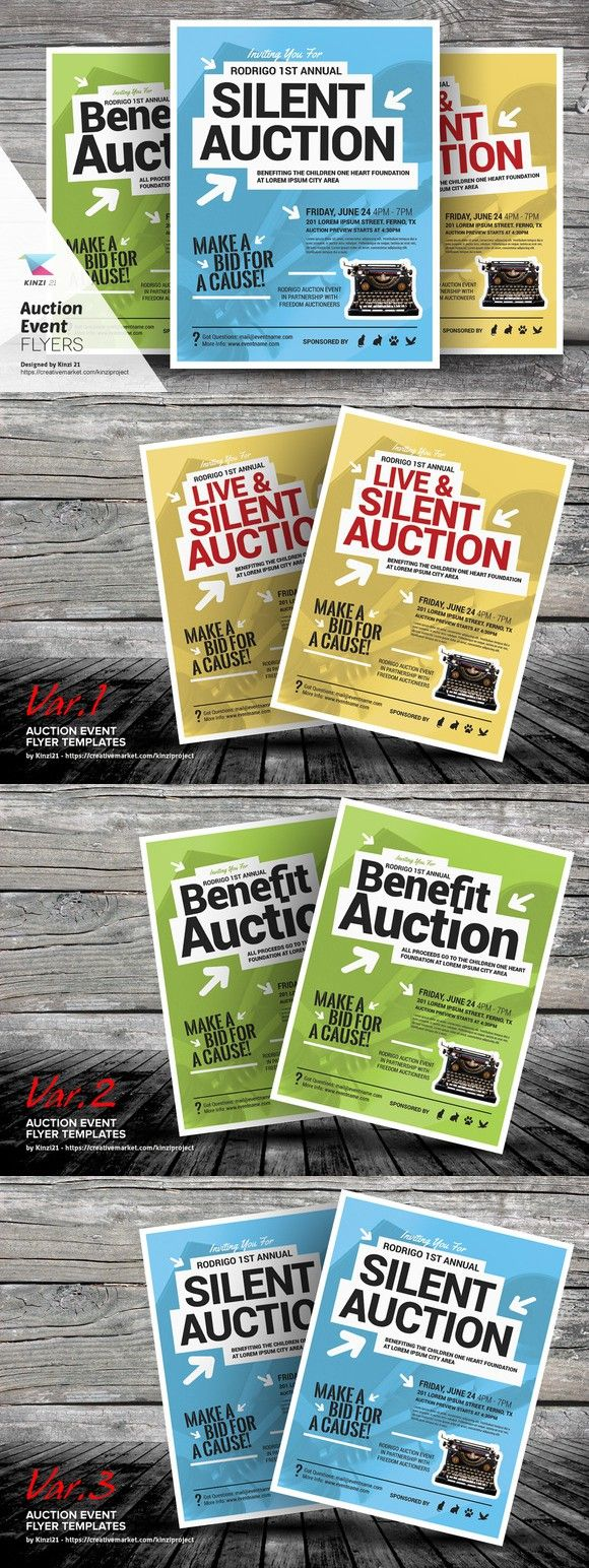 auction event flyer templates flyer templates pinterest flyer