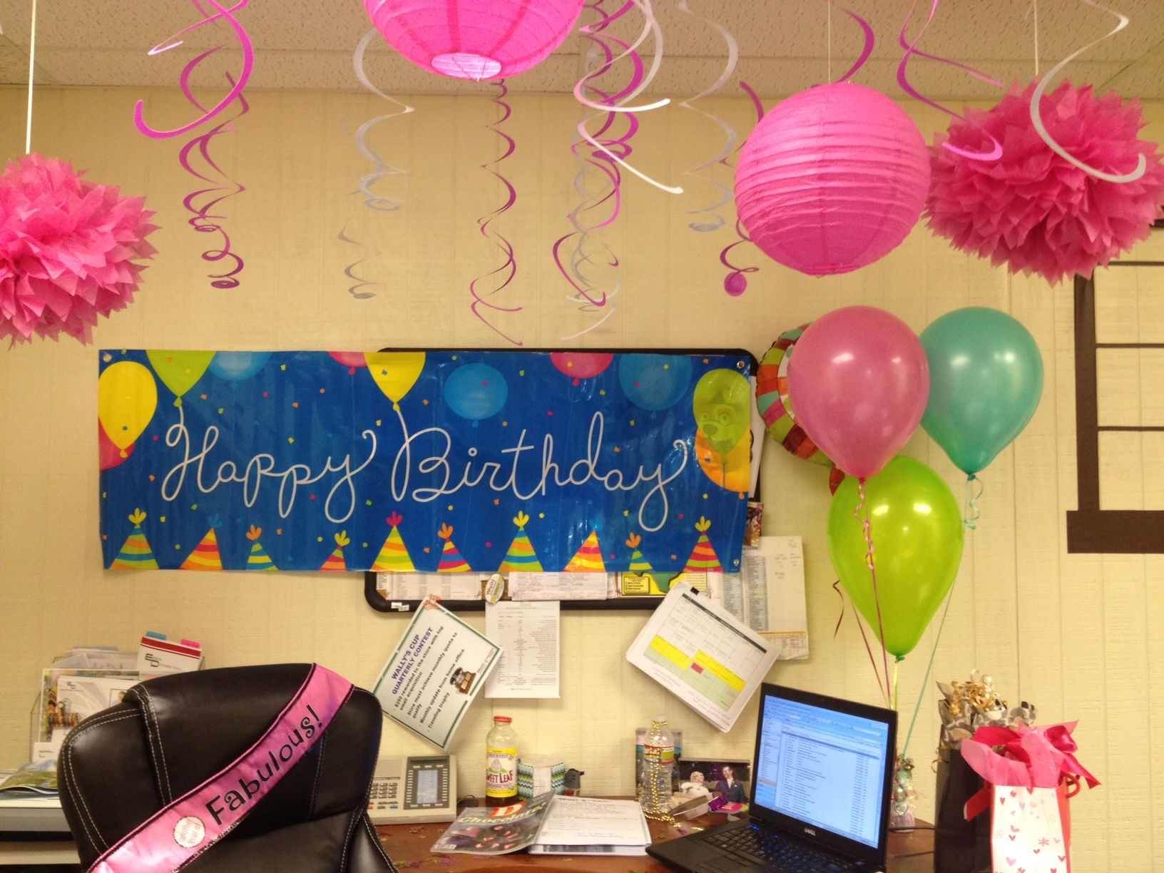 office birthday decorations. birthday party fun in the office! office decorations o