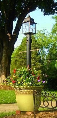 How To Make A Light Post Planter For Your Yard Garden