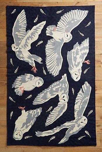 Night Flight Rug Owl Rug Harry Potter Artwork Harry Potter Bedroom